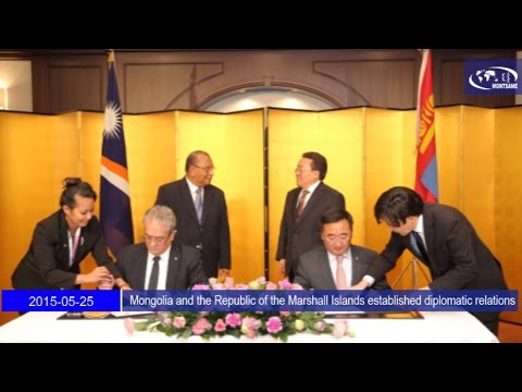 Mongolia and the Republic of the Marshall Islands established diplomatic relations