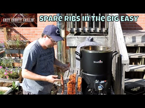 How To Do Spare Ribs On The Big Easy Oil-less Turkey Fryer