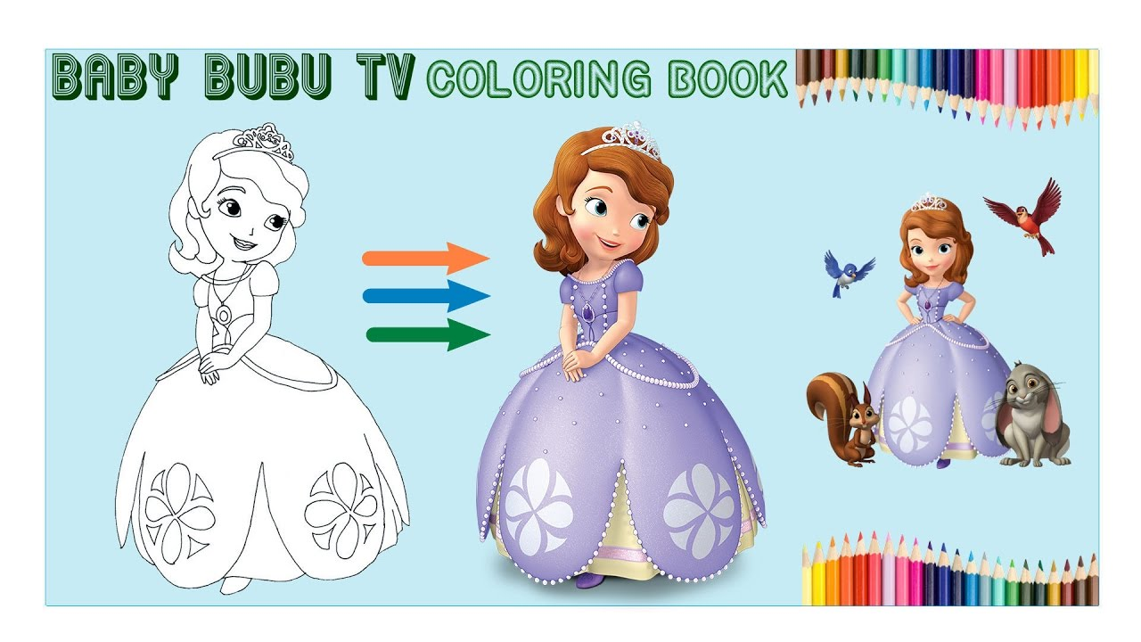 free princess coloring pages for girls sofia the first youtube