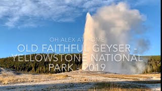 Old Faithful Geyser Eruption - Yellowstone National Park - Airstream Camping Trip