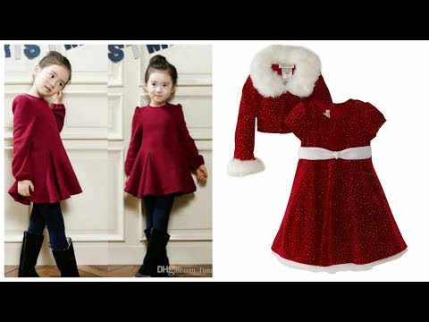 top-stylish-party-wear-designer-velvet-dress-designs-collection-for-kids-||2018-19