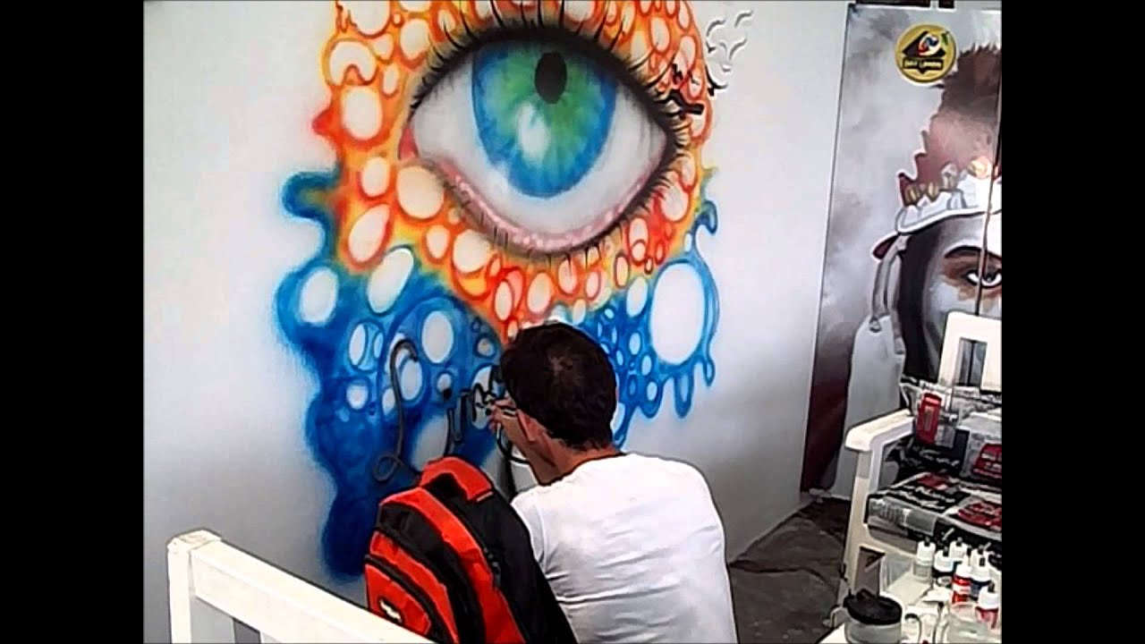 Gelibolu do an din airbrush painting eye paint on wall for Airbrush mural painting