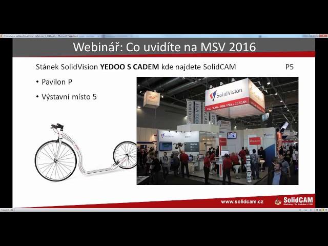 SolidCAM CZ 2016 09 Co uvidíte na MSV 2016
