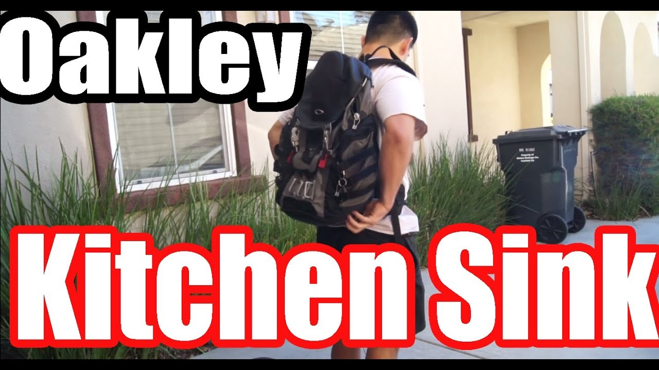 oakley back pack kitchen sink product review youtube