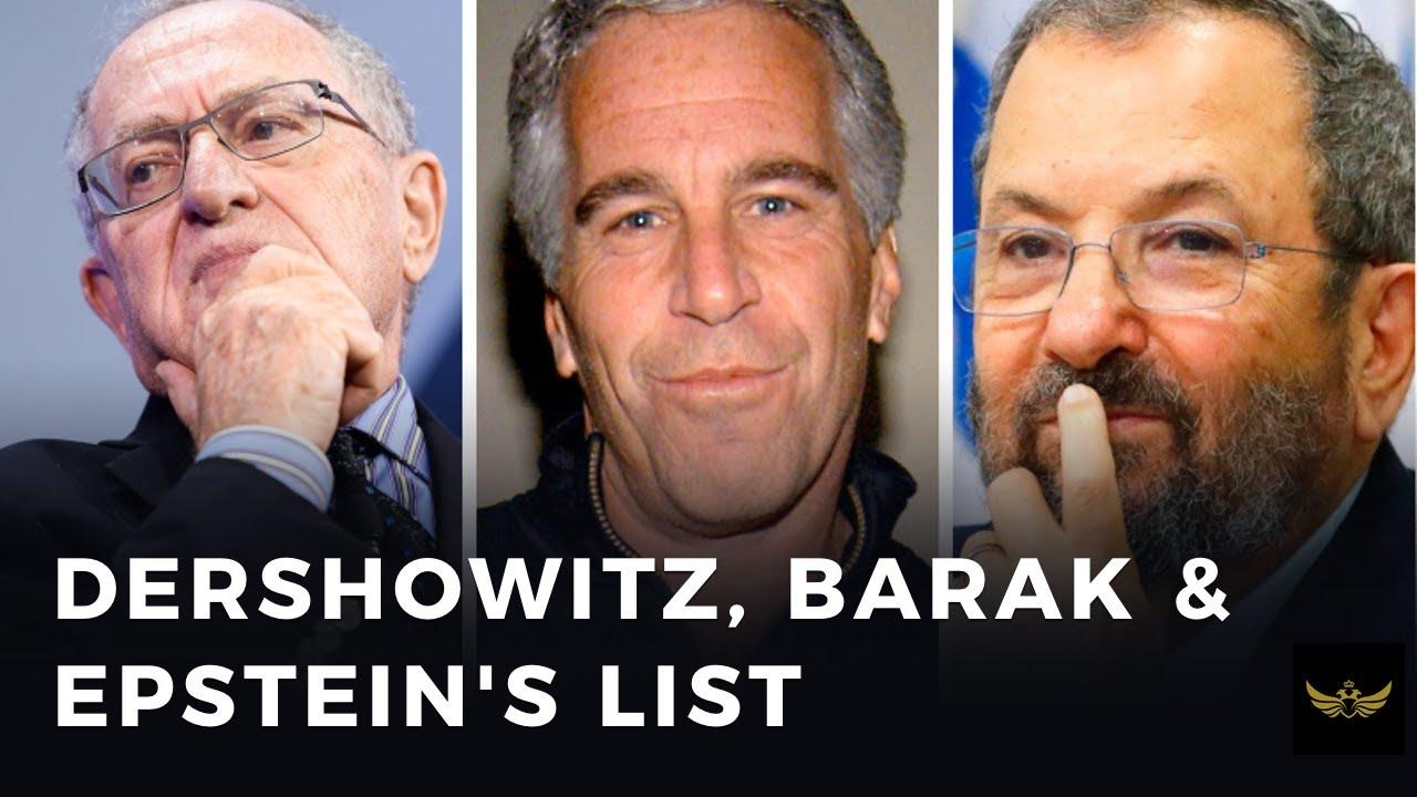 Dershowitz exposes former Israeli PM Ehud Barak in Epstein court filings