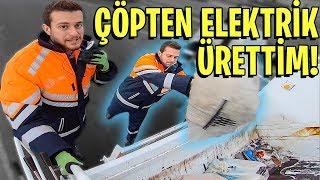 1 Günlüğüne Temizlik Görevlisi Oldum! Çöpten Elektrik Üretmek! #AlperStajda