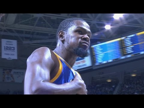 Kevin Durant Angry 4th Quarter Dunks! Warriors vs Jazz