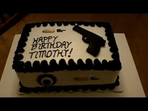 Birthday Gun Cake