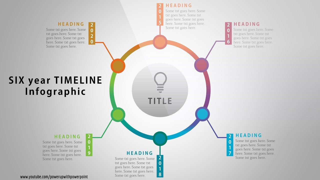 7 create six year timeline infographic  powerpoint