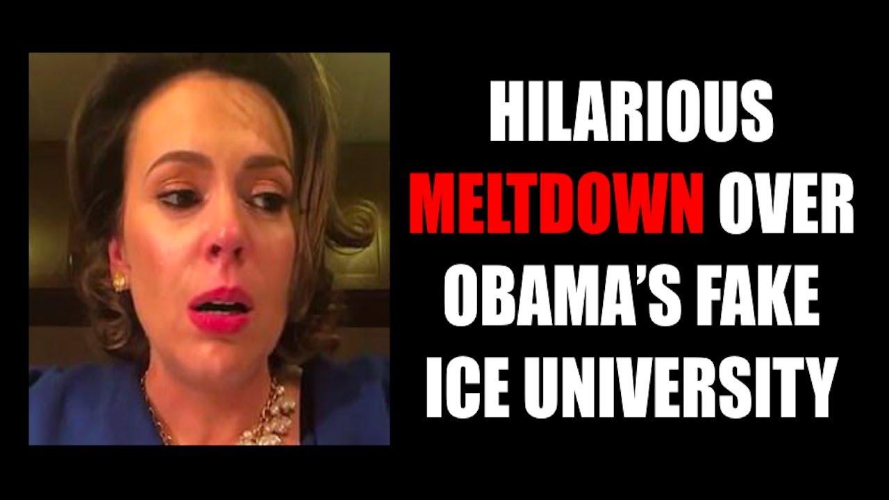 HILARIOUS MELTDOWN OVER OBAMA'S FAKE ICE UNIVERSITY - Zeducation