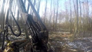 Praca w lesie   Harvester_Timberjack 1070_GoPro  