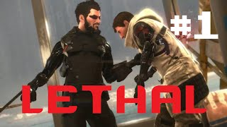 Deus Ex: Mankind Divided l Lethal Walkthrough - M1 Black Market Buy - Part 1