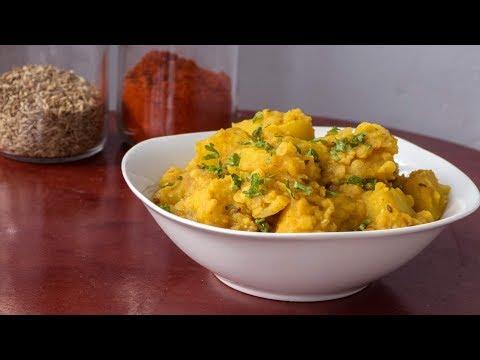 Indian Potatoes with red Lentils Aloo Masoor Dal Vegetarian Recipe