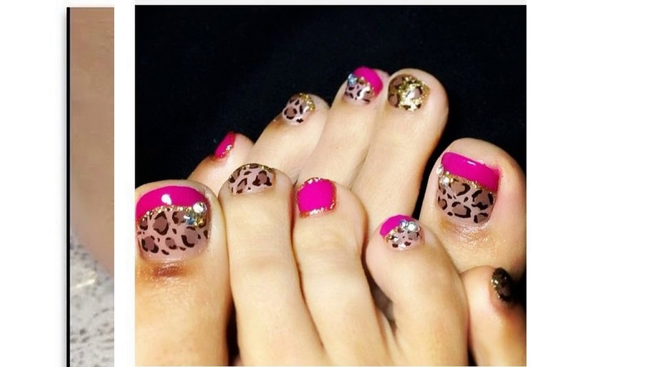 Uñas Decoradas Con Esmalte Para Pies Youtube