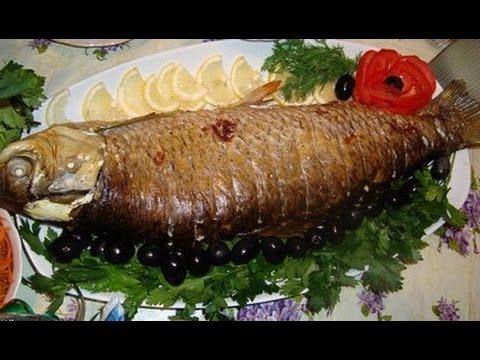 Фаршированная рыба Часть 2  Фаршированная рыба запечённая в духовке
