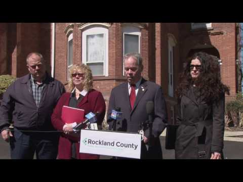 Rockland County Executive Ed Day making his announcement that the Multiple Dwelling Rental Registry is now in effect.