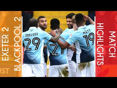 Highlights   Exeter 2 Blackpool 2