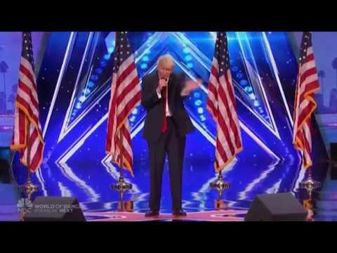 Donald Trump in America's Got Talent 2017 The singing trump