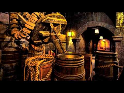 Pirates of the Caribbean queue line opening music 1 hour loo