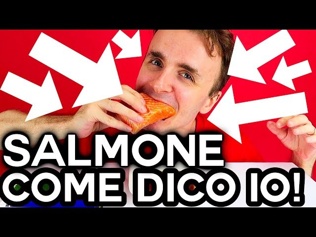 MANGIO SASHIMI DI SALMONE COME DICO IO!!