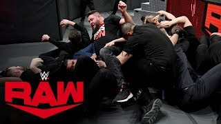 Kevin Owens and Samoa Joe engage in a massive brawl with Seth Rollins and AOP: Raw, Dec. 30, 2019