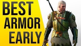 Witcher 3 - Best Armor Early Game Location - Griffin School Gear Location!