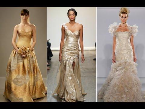 Gold color bridesmaid dress