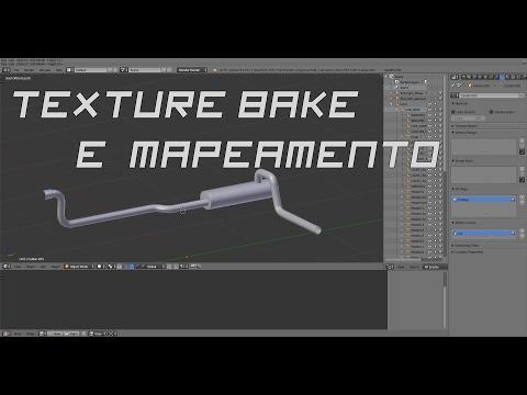 Texture Bake e Mapeamento (Blender Cycles)