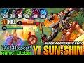 Super Aggressive Play YSS 20 Kills in 10 MIN - Top 1 Global Yi Sun Shin 24434.Repeat! - MLBB