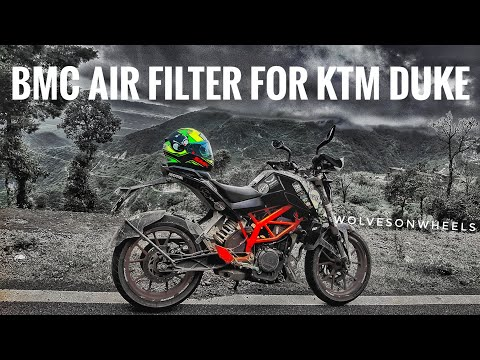 How to Change Air Filter of Ktm duke/rc | BMC air filter duke/rc 200/390 | bmc air filter review