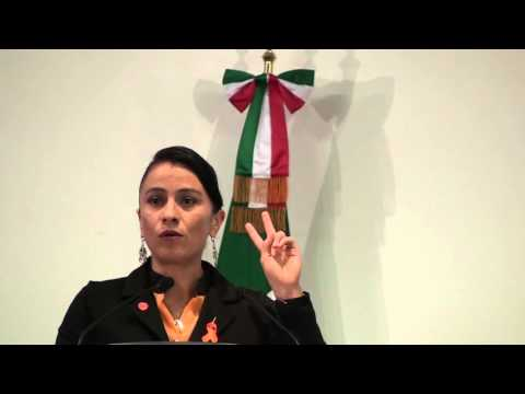 Irma García Mensaje en firma convenio WBC y Secretaría de Gobernación