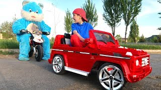Bunny gives Surprise Toy Power Wheels Car