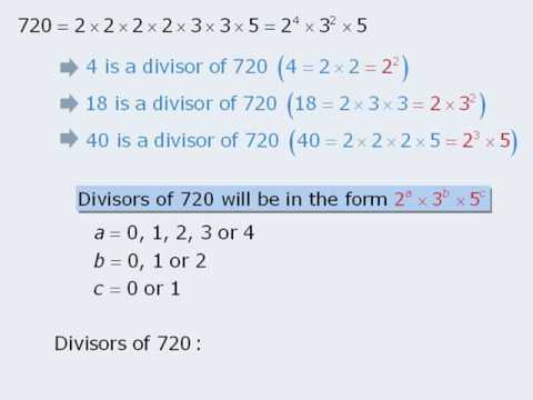 9 gre lesson counting divisors of large numbers better youtube