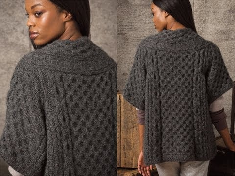 Vogue Knitting Patterns For Sweaters : #3 Mid-Length Cardigan, Vogue Knitting Early Fall 2010 - YouTube