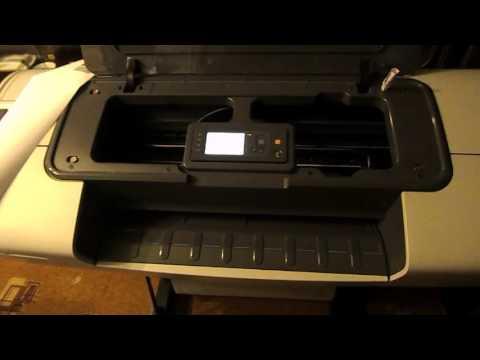 Распечатка  тестовых страниц на плоттере Hp