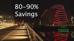 Pingwave Lighting - Spencer Dock, IFSC, Dublin. Advanced LED Lighting Video