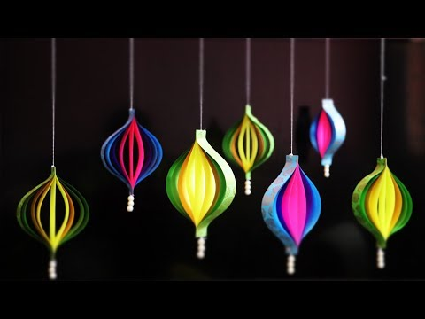DIY Paper Decorations | Wall Hanging Christmas Decorations | Easy Paper Crafts