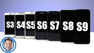 Samsung Galaxy S9 vs S8 vs S7 vs S6 vs S5 vs S4 vs S3 History and Phone Comparison