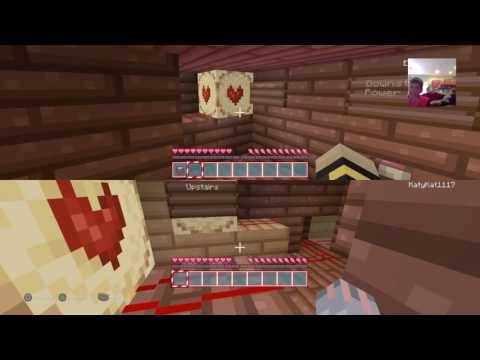 Minecraft PlayStation: Burning log cabin [3] trapped with falling lava