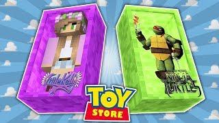 TEENAGE MUTANT NINJA TURTLES ORDER PIZZA! Minecraft Toystore