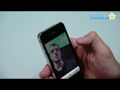 How to use the front-facing camera on the iPhone 4