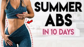 HOT GIRL SUMMER ABS in 10 Days | 8 minute Home Workout