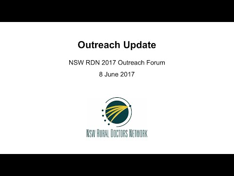 RDN03 Outreach Update – 2017 Outreach Forum