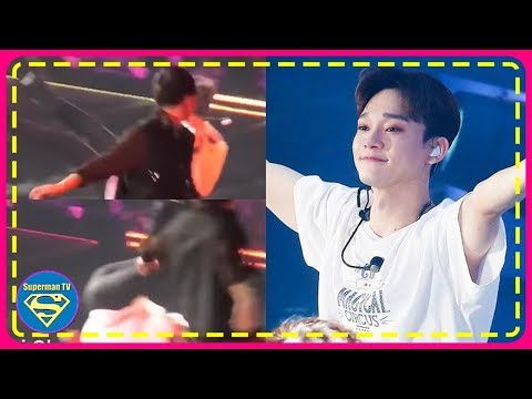 EXO Chen Fell Back During A Stage At Their Recent Concert But His Unbelievable Smooth Save Was Just