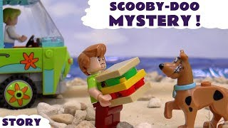 Scooby Doo LEGO Stop Motion Toy Story Prank with Cars and Thomas & Friends |  Lego Mystery Machine