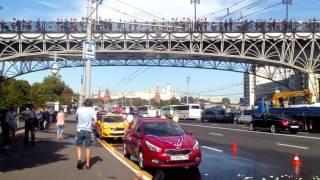 Москва, попали на съемки фильма