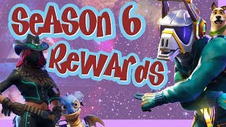 Fortnite Season 6 Battle Pass Rewards | NEW SKINS, MUSIC, PETS & MORE!