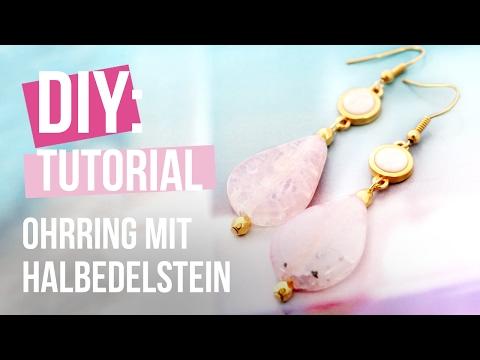 DIY: Ohrring mit Halbedelstein