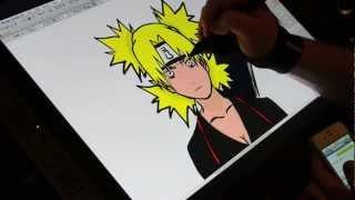 Drawing Temari From Naruto On The Wacom Cintiq 21ux