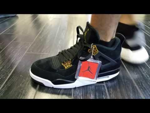 release date 1b739 34f35 Unbox Latest Nike Air Jordan Retro 4 Royalty Black Gold ...